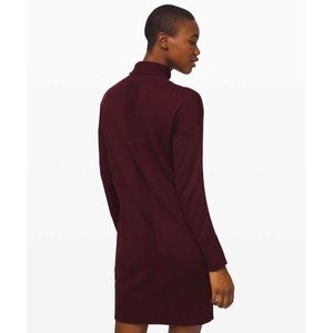 lululemon Softer Still Cashmere Dress Garnet XS